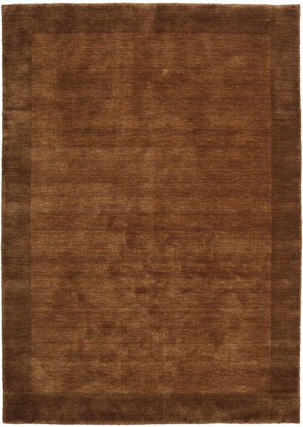 ハンドルーム Frame - 茶 絨毯 160X230 モダン 茶/濃い茶色 (ウール, インド)