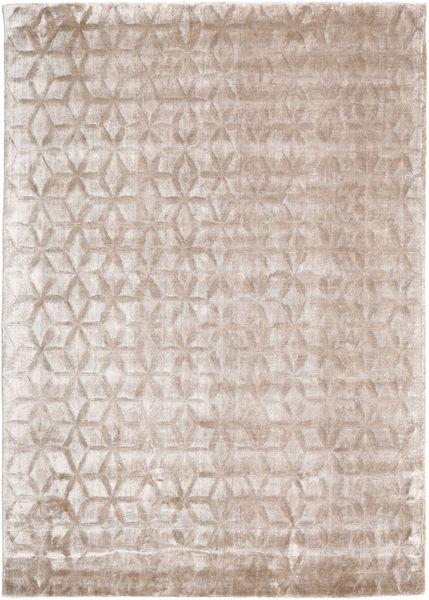 Diamond - Soft_Beige 絨毯 140X200 モダン 薄い灰色/ホワイト/クリーム色 ( インド)