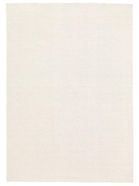 キリム ルーム - オフホワイト 絨毯 160X230 モダン 手織り ベージュ (ウール, インド)