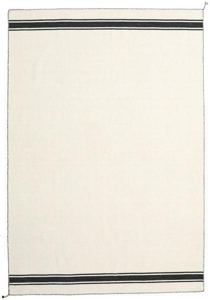 Ernst - オフホワイト/黒 絨毯 200X300 モダン 手織り ベージュ (ウール, インド)
