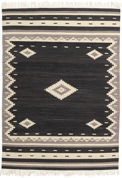 Tribal - 黒 絨毯 160X230 モダン 手織り 黒/ベージュ (ウール, インド)