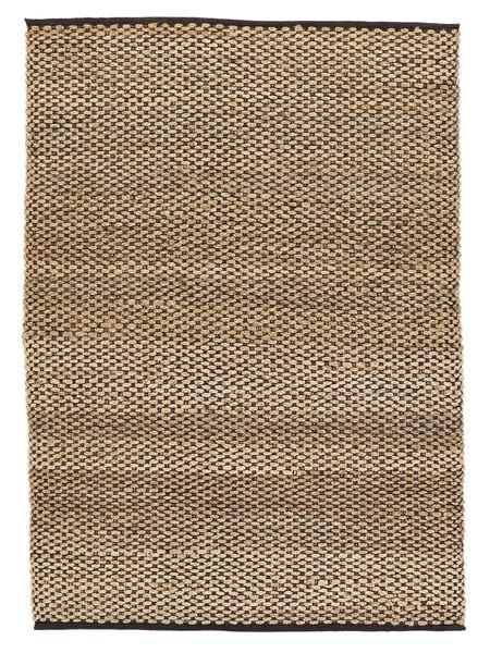 屋外カーペット Siri Jute - ナチュラル/黒 絨毯 160X230 モダン 手織り ベージュ/薄い灰色 ( インド)