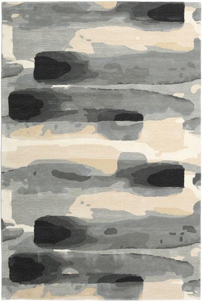 Ink - グレー 絨毯 200X300 モダン 薄い灰色/ベージュ (ウール, インド)