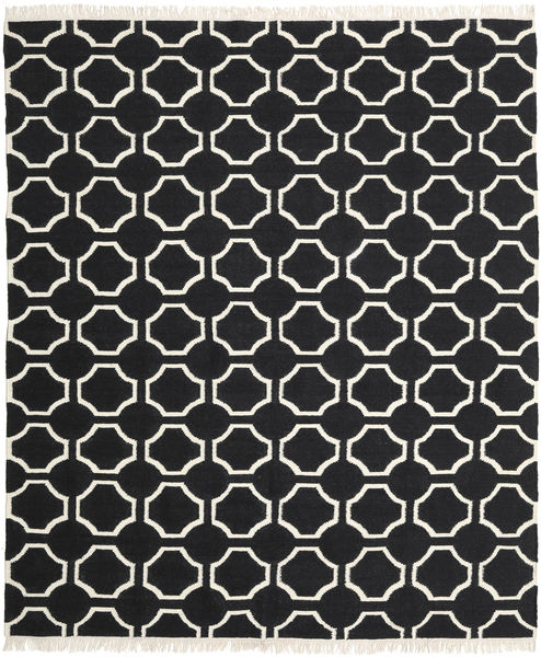 London - 黒/オフホワイト 絨毯 250X300 モダン 手織り 黒 大きな (ウール, インド)