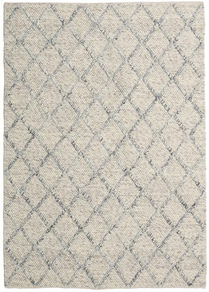 Rut - シルバー/グレー Melange 絨毯 160X230 モダン 手織り 薄い灰色/暗めのベージュ色の (ウール, インド)