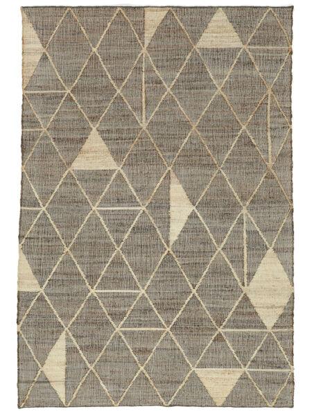Berber Jute 絨毯 140X200 モダン 手織り 薄い灰色/ベージュ ( インド)