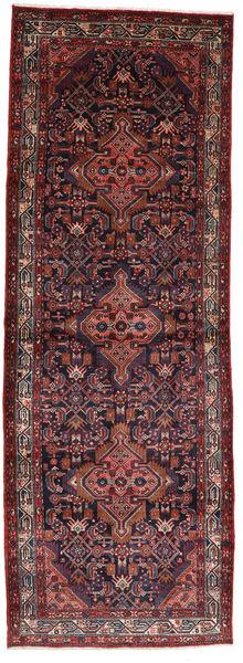 アサダバード 絨毯 112X320 オリエンタル 手織り 廊下 カーペット 深紅色の/濃い茶色 (ウール, ペルシャ/イラン)