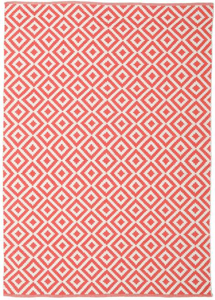 Torun - Coral/Neutral 絨毯 170X240 モダン 手織り 赤/ライトピンク (綿, インド)