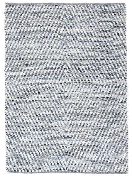 Hilda - Denim/白 絨毯 170X240 モダン 手織り ベージュ/水色 (綿, インド)