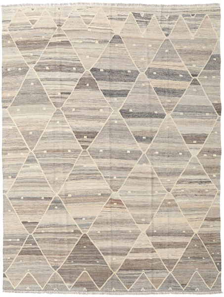 キリム Ariana 絨毯 183X243 モダン 手織り 薄い灰色/ベージュ (ウール, アフガニスタン)
