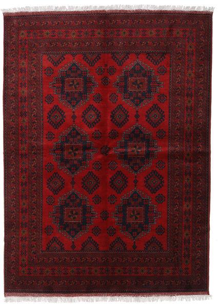 アフガン Khal Mohammadi 絨毯 173X236 オリエンタル 手織り 深紅色の/濃い茶色 (ウール, アフガニスタン)