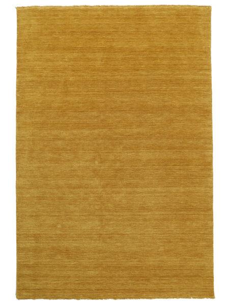 ハンドルーム Fringes - 黄色 絨毯 160X230 モダン 黄色/薄茶色 (ウール, インド)