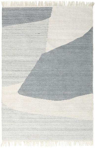 Ariel 絨毯 140X200 モダン 手織り 薄い灰色/暗めのベージュ色の ( インド)