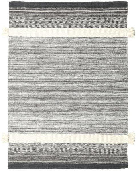 Fenix - 黒 絨毯 170X240 モダン 手織り 薄い灰色/ホワイト/クリーム色 (ウール, インド)