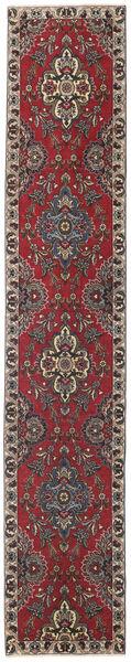 タブリーズ パティナ 絨毯 80X430 オリエンタル 手織り 廊下 カーペット 深紅色の/濃い茶色 (ウール, ペルシャ/イラン)