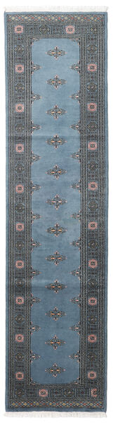 パキスタン ブハラ 2Ply 絨毯 78X304 オリエンタル 手織り 廊下 カーペット 青/紺色の/濃いグレー (ウール, パキスタン)
