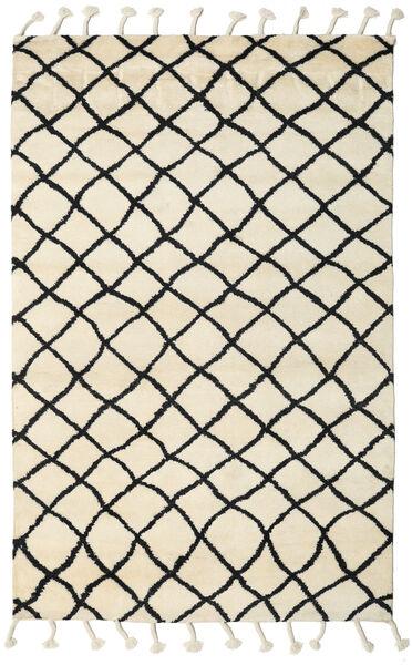 Atlas Berber 絨毯 180X275 モダン 手織り ベージュ/黒 (ウール, インド)