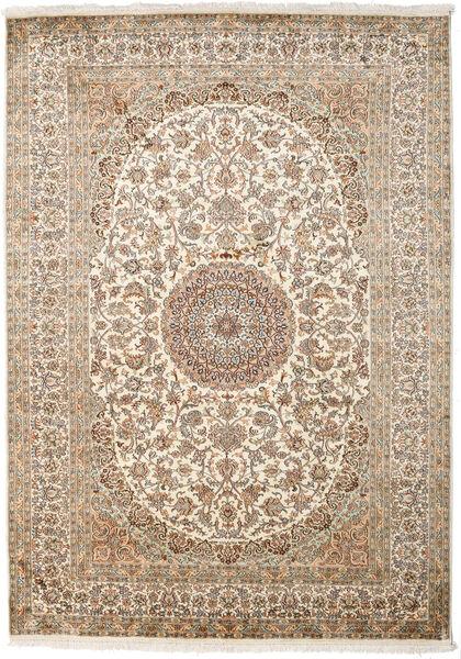 カシミール ピュア シルク 絨毯 175X249 オリエンタル 手織り ベージュ/薄い灰色 (絹, インド)