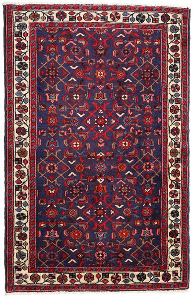 ハマダン 絨毯 77X120 オリエンタル 手織り 濃い紫/深紅色の (ウール, ペルシャ/イラン)