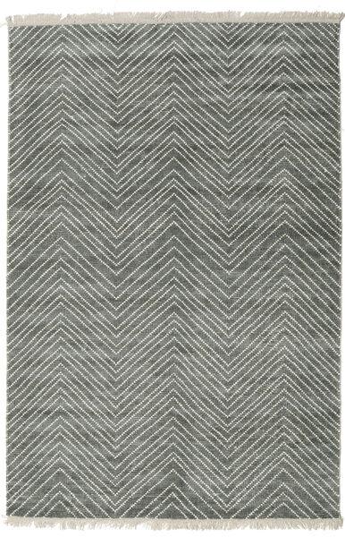 Vanice - グレー グリーン 絨毯 140X200 モダン 手織り 薄い灰色/濃いグレー ( インド)
