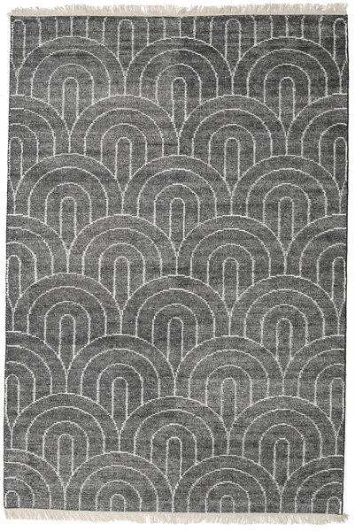 Vanya - チャコール/Cream 絨毯 140X200 モダン 手織り 濃いグレー/薄い灰色 ( インド)