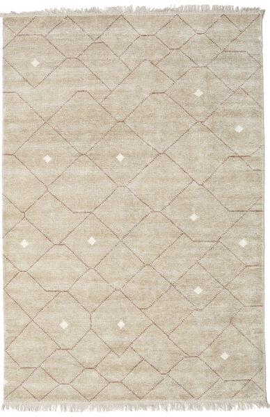 Beni - ベージュ/茶 絨毯 200X300 モダン 手織り 薄い灰色 ( インド)
