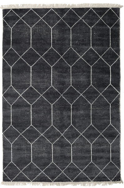 Kiara - Dark_Navy 絨毯 160X230 モダン 手織り 黒/濃いグレー ( インド)