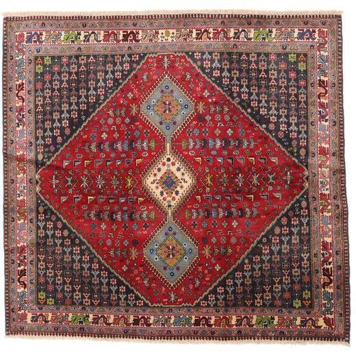 ヤラメー 絨毯 192X200 オリエンタル 手織り 正方形 深紅色の/濃い茶色 (ウール, ペルシャ/イラン)