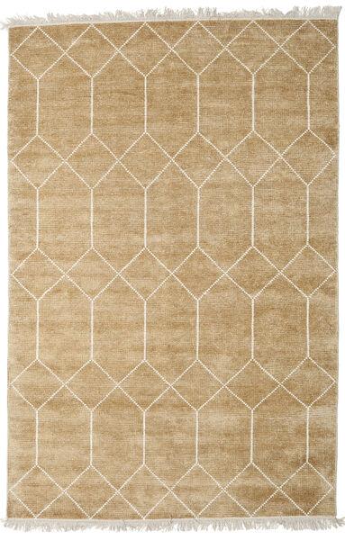 Kiara - ゴールド 絨毯 200X300 モダン 手織り 暗めのベージュ色の/薄茶色 ( インド)