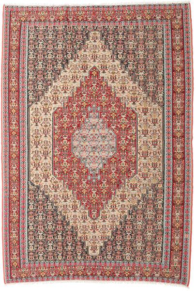 キリム センネ 絨毯 202X298 オリエンタル 手織り ベージュ/茶 (ウール, ペルシャ/イラン)