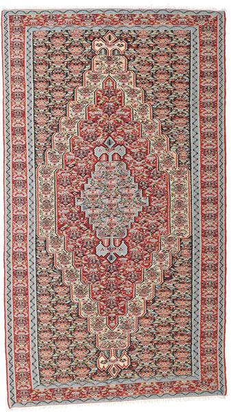 キリム センネ 絨毯 142X259 オリエンタル 手織り 薄い灰色/濃いグレー (ウール, ペルシャ/イラン)
