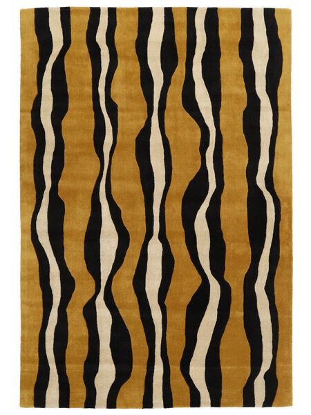 Tigre - ゴールド/ベージュ 絨毯 160X230 モダン 黒/茶 (ウール, インド)
