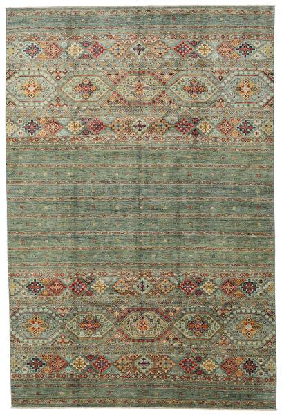 Shabargan 絨毯 204X312 モダン 手織り ライトグリーン/薄い灰色 (ウール, アフガニスタン)