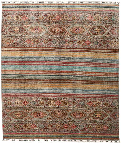 Shabargan 絨毯 244X283 モダン 手織り 薄い灰色/濃い茶色 (ウール, アフガニスタン)