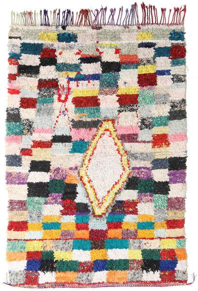 Berber Moroccan - Boucherouite 絨毯 172X246 モダン 手織り 薄い灰色/ホワイト/クリーム色 ( モロッコ)
