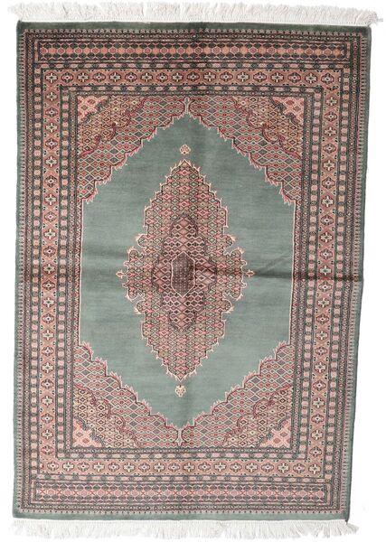 パキスタン ブハラ 3Ply 絨毯 143X208 オリエンタル 手織り 濃いグレー/ホワイト/クリーム色 (ウール, パキスタン)