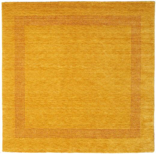 ハンドルーム Gabba - ゴールド 絨毯 200X200 モダン 正方形 黄色/薄茶色 (ウール, インド)