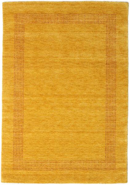 ハンドルーム Gabba - ゴールド 絨毯 140X200 モダン 黄色/オレンジ (ウール, インド)