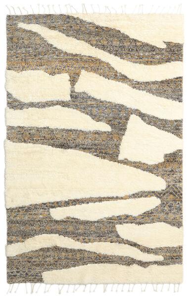 Barchi/Moroccan Berber - インド 絨毯 160X230 モダン 手織り ホワイト/クリーム色/ベージュ/薄い灰色 (ウール, インド)