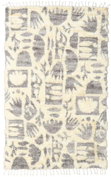 Barchi/Moroccan Berber - インド 絨毯 160X230 モダン 手織り ベージュ/薄い灰色 (ウール, インド)