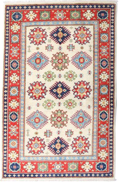 カザック 絨毯 97X151 オリエンタル 手織り ベージュ/錆色 (ウール, アフガニスタン)