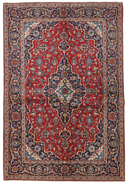 カシャン 絨毯 149X223 オリエンタル 手織り 深紅色の/濃い紫 (ウール, ペルシャ/イラン)