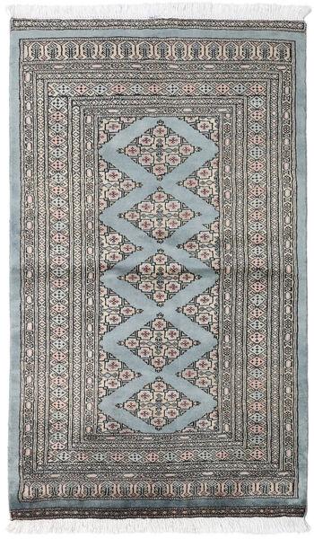 パキスタン ブハラ 2Ply 絨毯 95X160 オリエンタル 手織り 薄い灰色/濃いグレー (ウール, パキスタン)