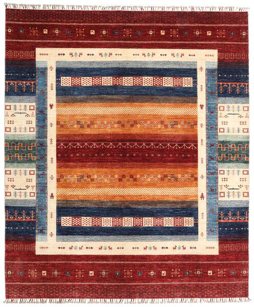 Shabargan 絨毯 246X289 モダン 手織り 深紅色の/ベージュ (ウール, アフガニスタン)