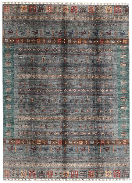 モダン アフガン 絨毯 210X289 モダン 手織り 濃いグレー/深緑色の (ウール, アフガニスタン)