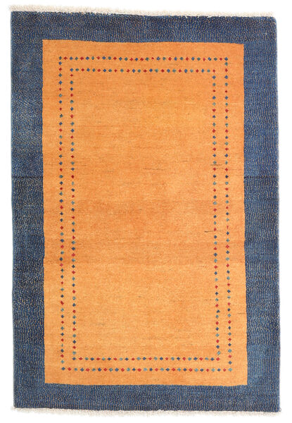 Loribaft ペルシャ 絨毯 84X124 モダン 手織り オレンジ/紺色の (ウール, ペルシャ/イラン)