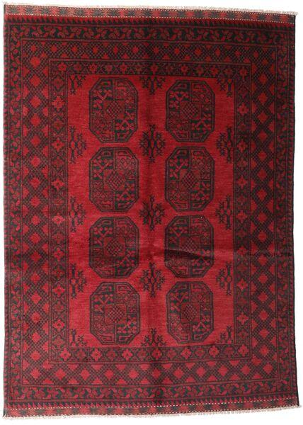 アフガン 絨毯 143X194 オリエンタル 手織り 深紅色の (ウール, アフガニスタン)