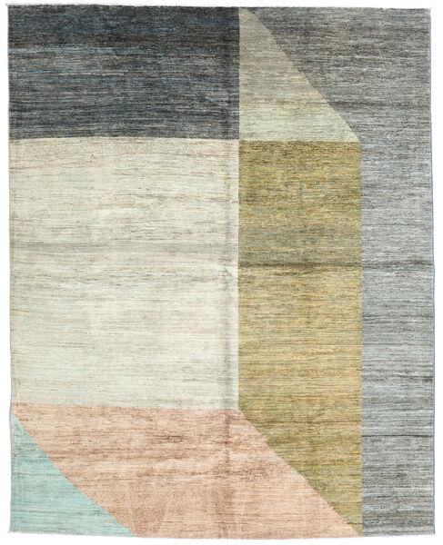Battuta 絨毯 211X264 モダン 手織り ホワイト/クリーム色/ターコイズブルー (ウール, アフガニスタン)