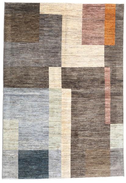 Battuta 絨毯 165X241 モダン 手織り 薄い灰色/濃い茶色 (ウール, アフガニスタン)