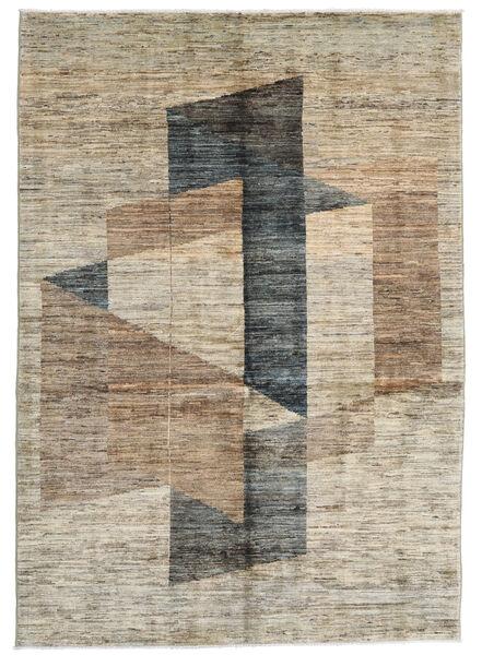 Battuta 絨毯 140X200 モダン 手織り 薄い灰色/濃いグレー (ウール, アフガニスタン)